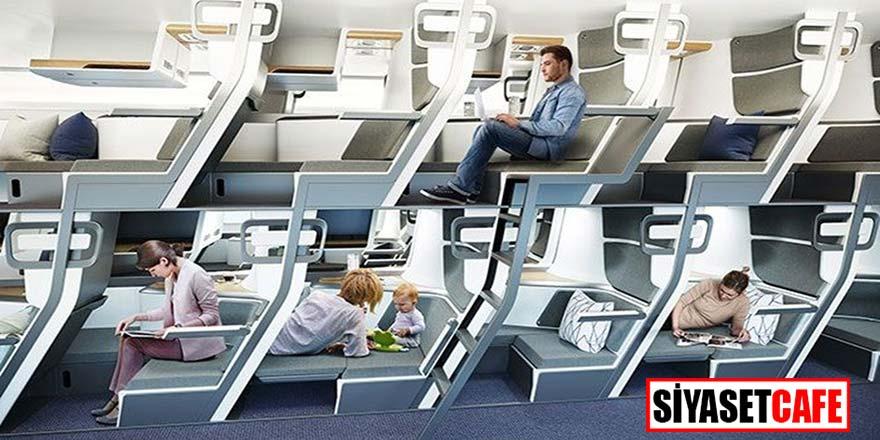 Uçak yolculuklarında koronavirüsü etkisi: 2 katlı uçaklar geliyor