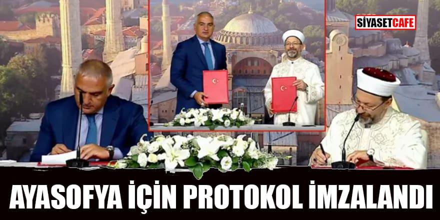 Diyanet ile Bakanlık arasında Ayasofya için protokol imzalandı