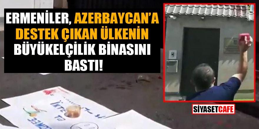 Ermeniler, Azerbaycan'a destek çıkan ülkenin büyükelçilik binasını bastı