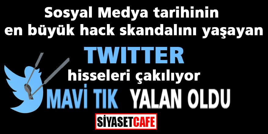 Sosyal medya tarihinin en büyük hack skandalını yaşayan Twitter hisseleri çakılıyor