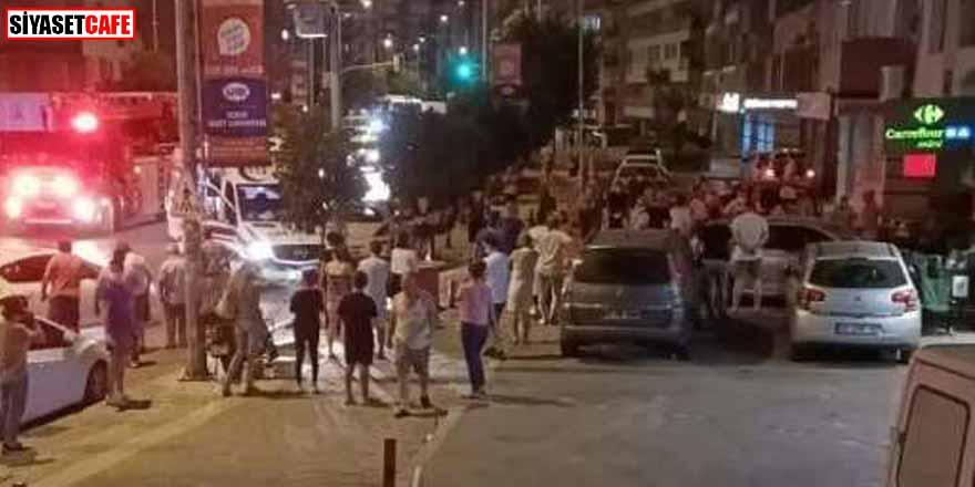 İzmir'de 4.1 şiddetinde deprem olunca paniğe kapılıp 7'nci kattan atladı