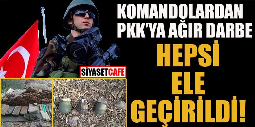 Komandolardan PKK'ya ağır darbe: Hepsi ele geçirildi