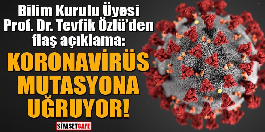 Prof. Dr. Tevfik Özlü'den flaş koronavirüs açıklaması: Mutasyona uğruyor...