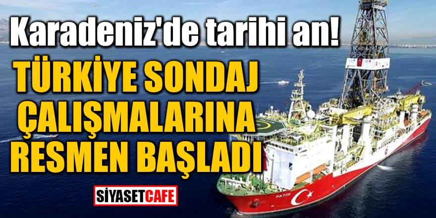 Karadeniz'de tarihi an! Türkiye sondaj çalışmalarına resmen başladı