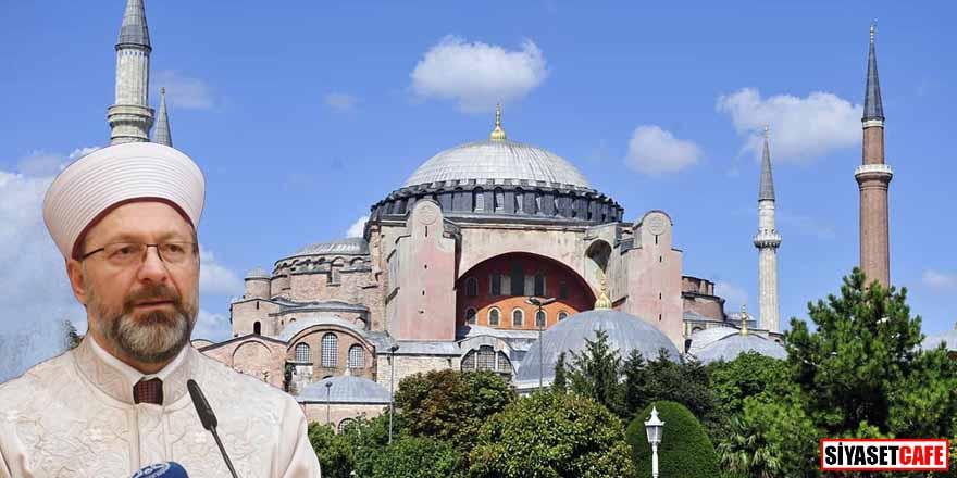 Diyanet Başkanı Ali Erbaş: Ayasofya Camisi'nde kıyama durma vakti