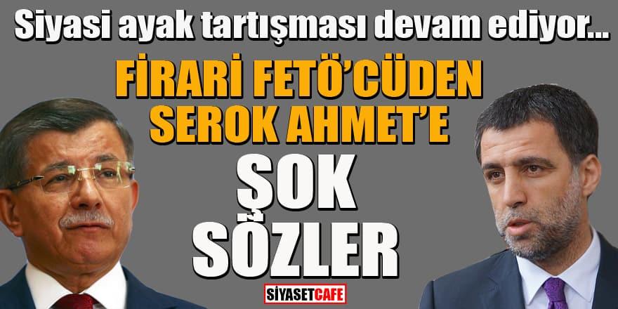 """Firari FETÖ'cü Hakan Şükür'den Ahmet Davutoğlu'na çok sert """"siyasi ayak"""" cevabı"""