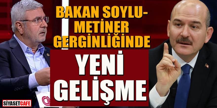 Bakan Soylu ve Mehmet Metiner tartışmasında yeni gelişme!