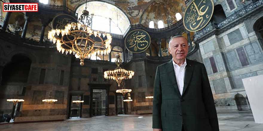 Erdoğan'dan Ayasofya paylaşımı: Ezelden sen bizimsin