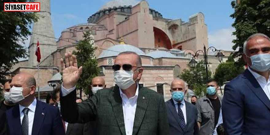 Erdoğan ve Bahçeli'den Ayasofya'da inceleme