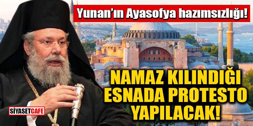 Yunan'ın Ayasofya hazımsızlığı! Namaz kılındığı esnada protesto yapılacak