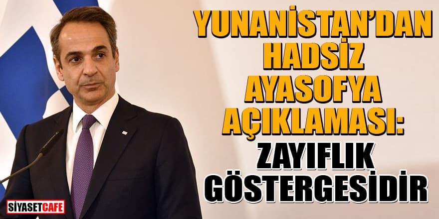 Yunanistan Başbakanı Miçotakis'ten küstah Ayasofya açıklaması