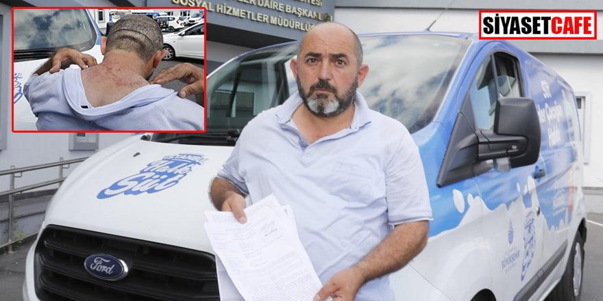 Süt dağıtan İBB görevlisine saldırdılar
