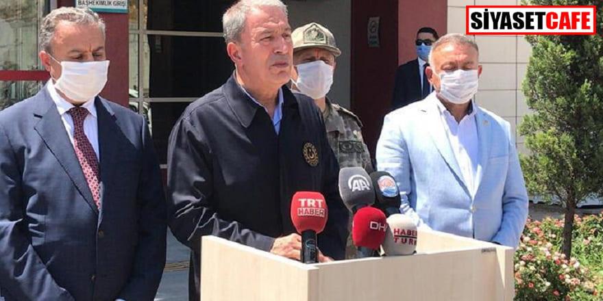 Hulusi Akar Mersin'deki kazanın ayrıntılarını paylaştı
