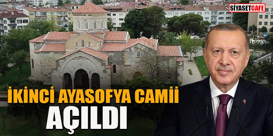 Trabzon'da İkinci Ayasofya Camii heyecanı! Erdoğan açılışını gerçekleştirdi