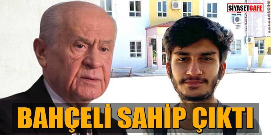 Bahçeli YKS'de Osmaniye'den Türkiye birincisi olan Evleksiz'e sahip çıktı