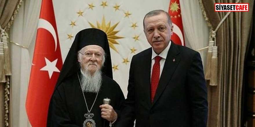 Fener Rum Patriği Bartholomeos'tan Erdoğan'a teşekkür telefonu