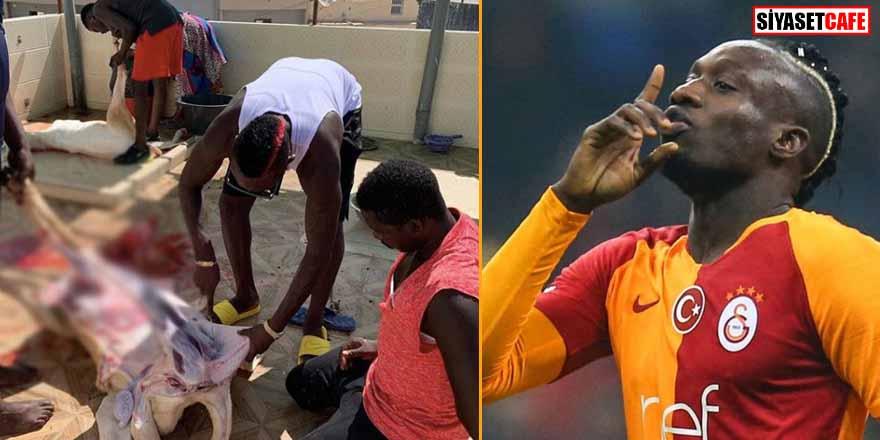 Galatasaray'ın Senegalli futbolcusu Mbaye Diagne kurban kesti! O anları paylaştı...