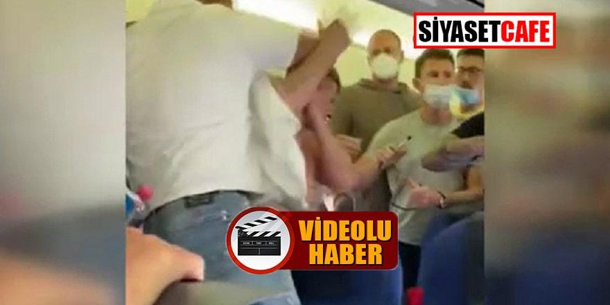 Uçakta maske takmayan 2 yolcuya meydan dayağı