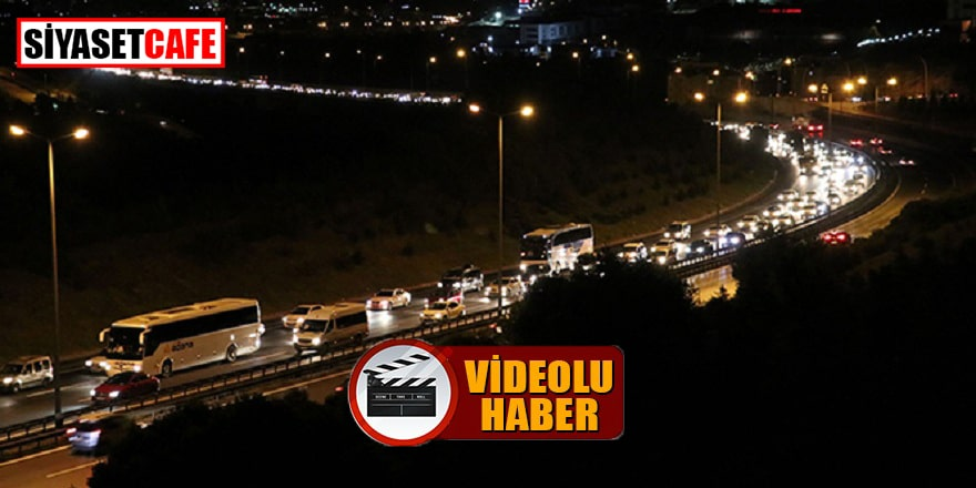 Tem Kocaeli'deki trafik yoğunluğu kamerada!
