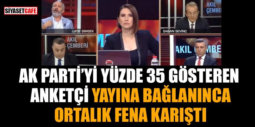 AK Parti'yi yüzde 35 gösteren anketçi yayına bağlanınca ortalık fena karıştı