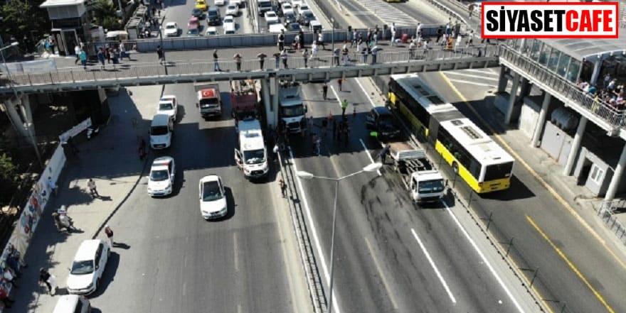 Küçükçekmece'de trafiği alt üst eden kaza: 4 yaralı!