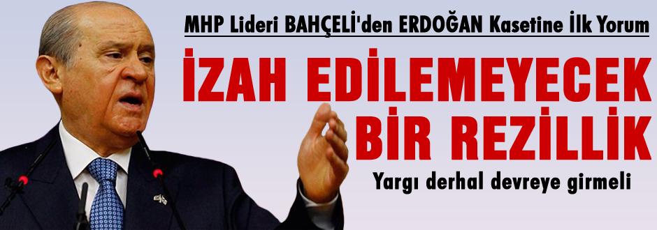 Bahçeli'den Erdoğan'ın kasedine ilk yorum