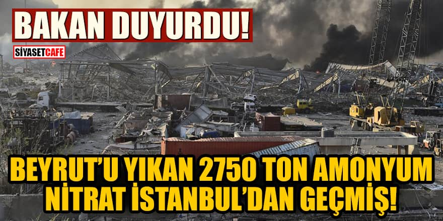 Beyrut'u yıkan 2750 ton amonyum nitrat İstanbul Boğazı'ndan geçmiş