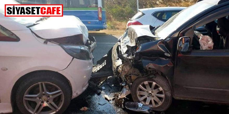 Tekirdağ'da iki araç kafa kafaya çarpıştı