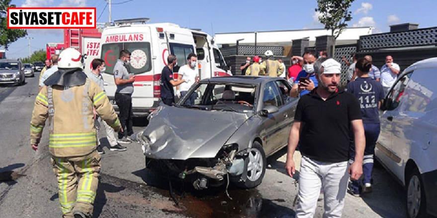 Silivri'de araçlar çarpıştı: 3 yaralı!