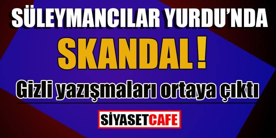 Süleymancı yurtlarında skandal: Gizli yazışmaları ortaya çıktı