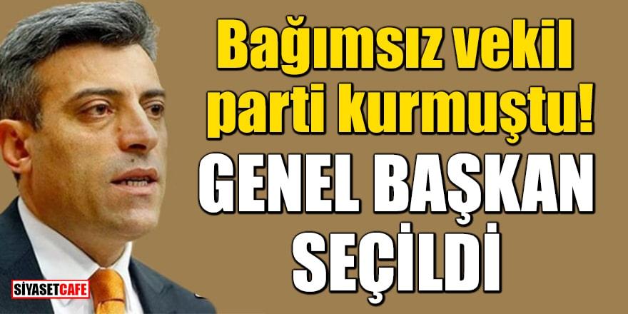 Bağımsız Ardahan Milletvekili Öztürk Yılmaz parti kurmuştu! Genel başkan seçildi