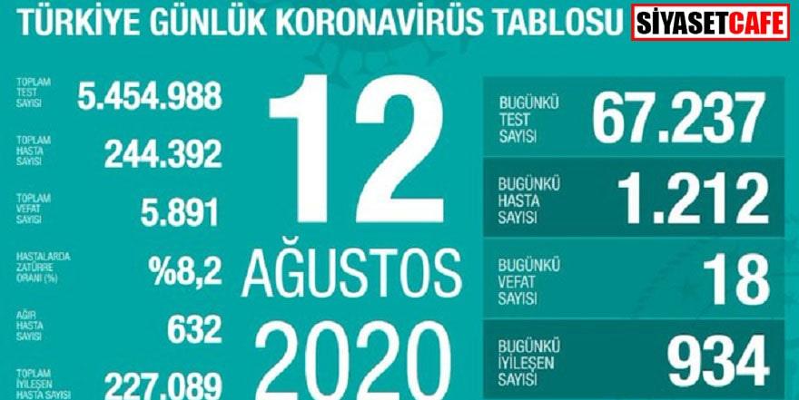 12 Ağustos koronavirüs rakamları açıklandı