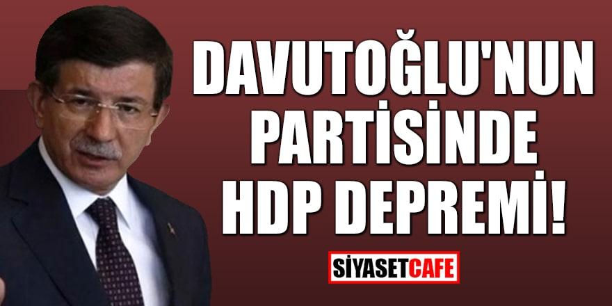 Davutoğlu'nun partisinde HDP depremi!