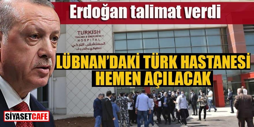 Erdoğan talimat verdi: Türk hastanesi hemen açılacak