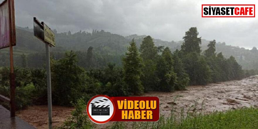 Trabzon sel ile boğuşuyor, ölen kişinin son anları kamerada!