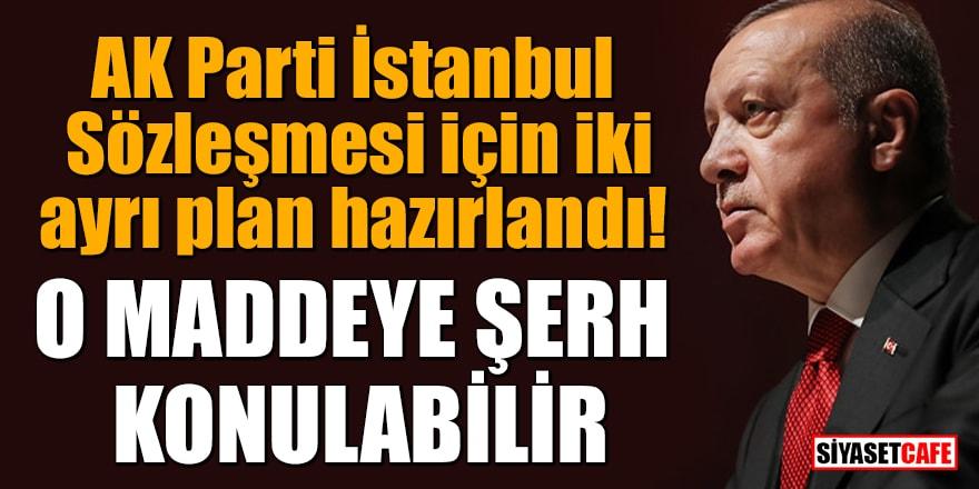 AK Parti İstanbul Sözleşmesi için iki ayrı plan hazırlandı!
