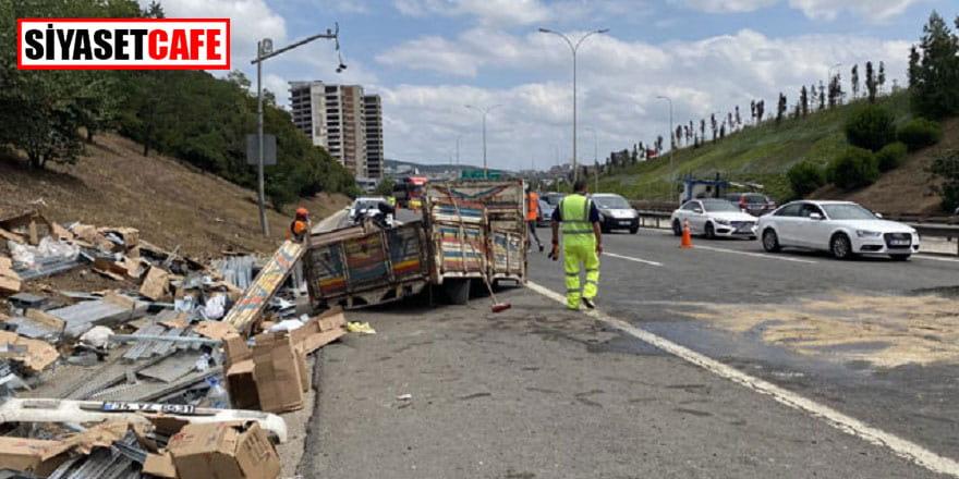 Tem'deki kaza trafiğe neden oldu