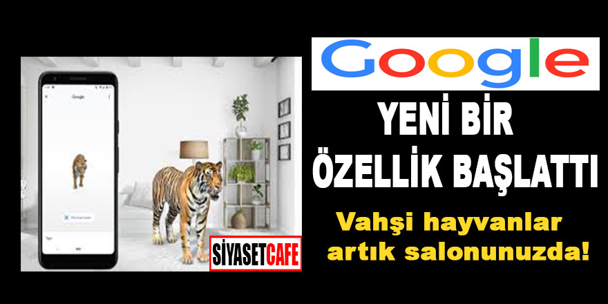 """Google'dan yeni bir özellik geldi: """" Vahşi hayvanlar artık salonunuzda"""""""
