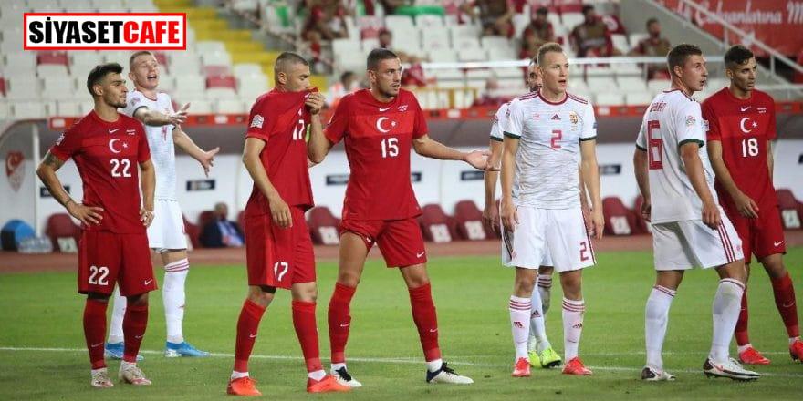 Frikikten yenen gol 3 puana mal oldu: Türkiye 0-1 Macaristan