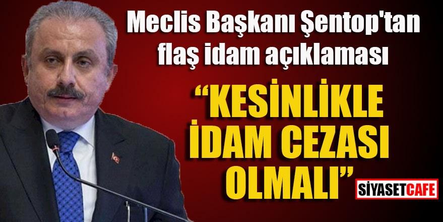Meclis Başkanı Şentop'tan flaş 'idam' açıklaması
