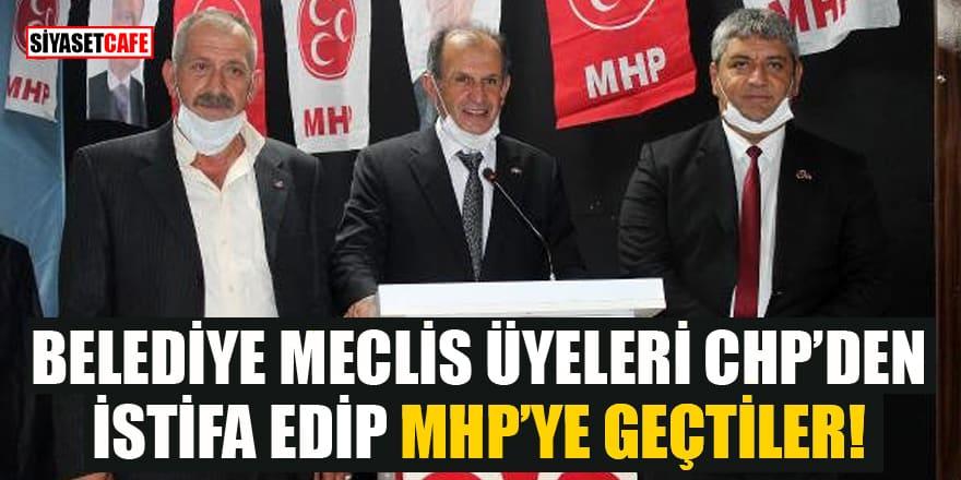 Belediye meclis üyeleri CHP'den istifa edip MHP'ye geçtiler
