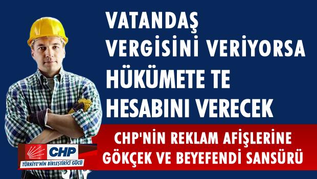 CHP afişlerine sansür