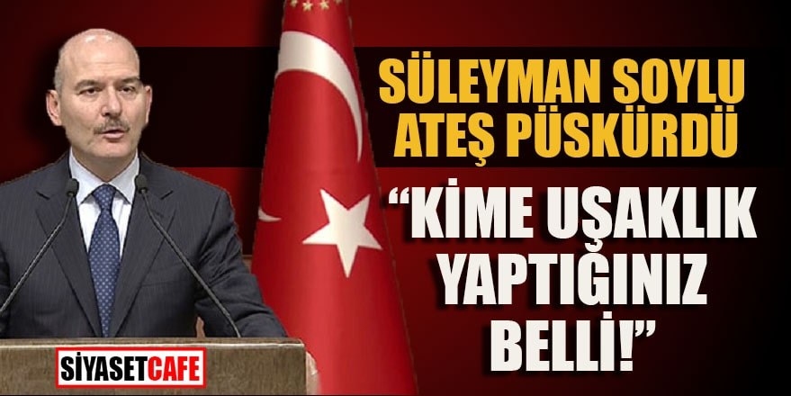 """Süleyman Soylu ateş püskürdü: """"Kime uşaklık yaptığınız belli"""""""