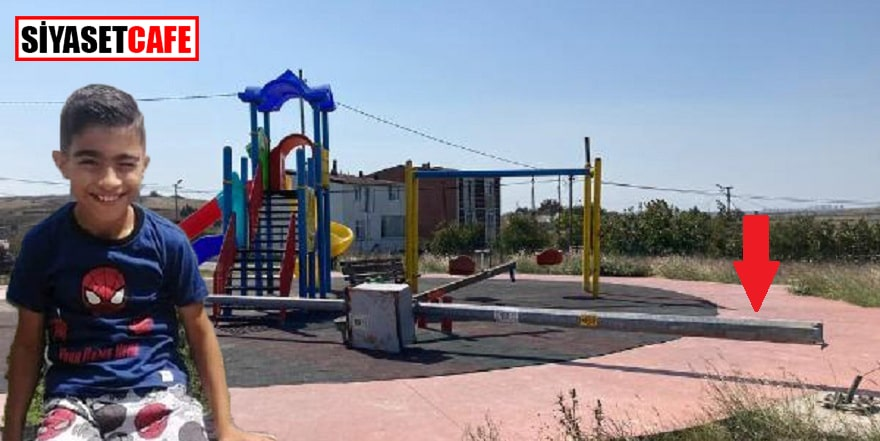 10 yaşındaki çocuk parktaki direğin kurbanı oldu
