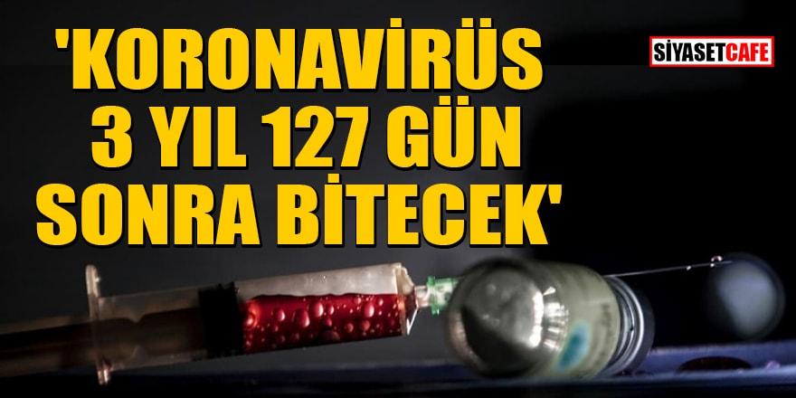 Mehmet Ali Bulut: 'Koronavirüs 3 yıl 127 gün sonra bitecek'