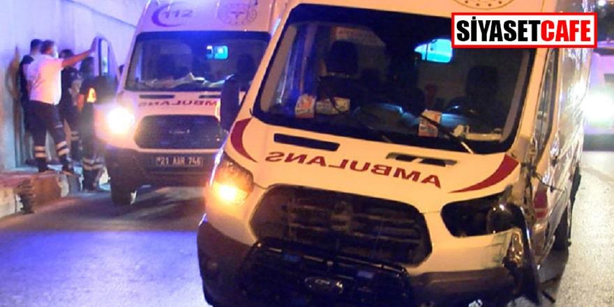 Diyarbakır'da ambulans kazası: 2 yaralı!