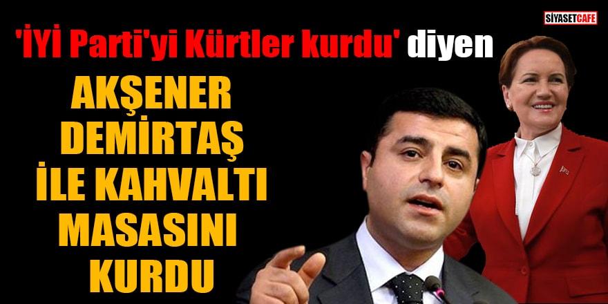 'İYİ Parti'yi Kürtler kurdu' diyen Akşener, Demirtaş ile kahvaltı masasını kurdu