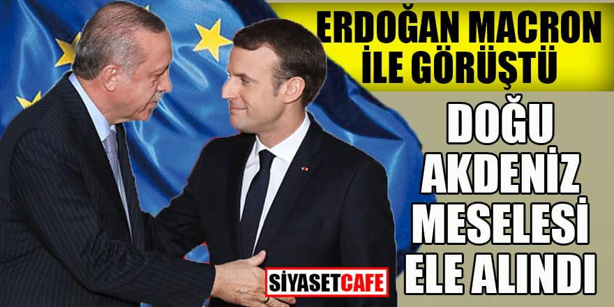 Erdoğan, Macron ile Doğu Akdeniz meselesini görüştü