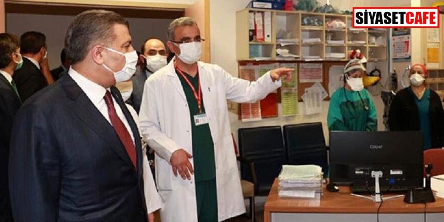 Fahrettin Koca şiddet gören sağlıkçıları ziyaret etti