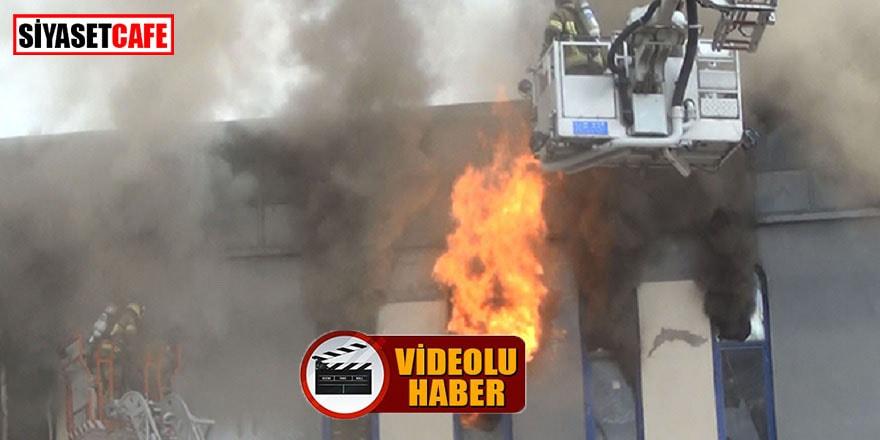 Bursa'daki fabrika yangını güçlükle söndürüldü
